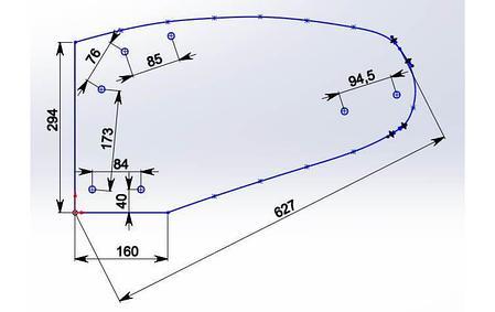 Отвал для плуга Полигон из композитного материала Tekrone, фото 2