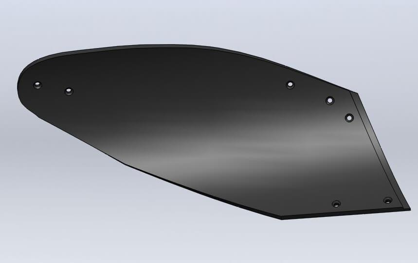 Отвал композитный Tekrone для установки на плуг Gregoire Besson