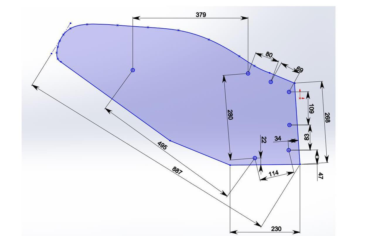 Отвал композитный Tekrone для установки на плуги семейства UNIA Ibis