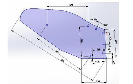 Отвал композитный Tekrone для установки на плуги семейства UNIA Ibis, фото 2
