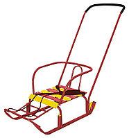 Санки детские с колесами Тимка 3+, NIKA, красный