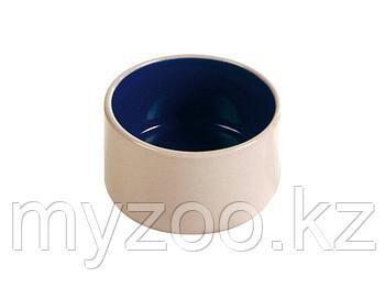 Миска керамическая для кормления мелких животных. Цвет кремово-синий. Р-р 100 ml/ ø 7 cm