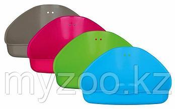 Пластиковый угловой туалет для морских свинок, кроликов, шиншилл,36 × 21 × 30/30 cm