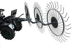 Грабли ворошилки для минитрактора Солнышко на 3 колеса