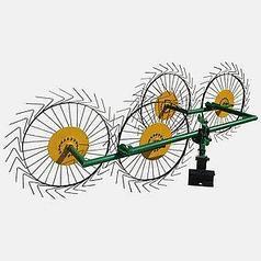 Грабли Солнышко 4 колеса (на трактора, мотоблоки и минитрактора)
