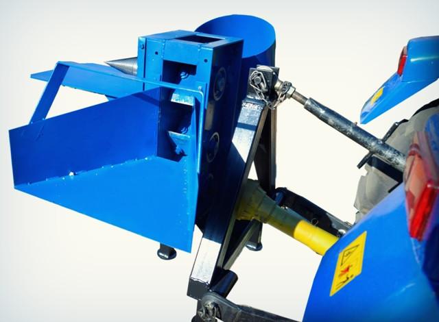 Измельчитель веток с приводом от минитрактора, односторонняя заточка ножей (2 вала)