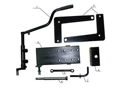 Комплект по переоборудованию мотоблока КИТ набор №2(базовый+задний подьемный механизм, 4 болта) , фото 2