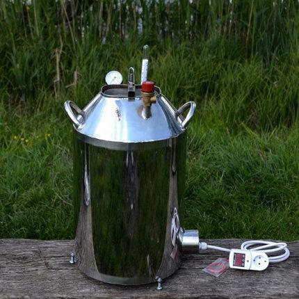 Автоклав Электрический МЕГА 30 пол.литр., из нержавеющей стали для домашнего консервирования, фото 2