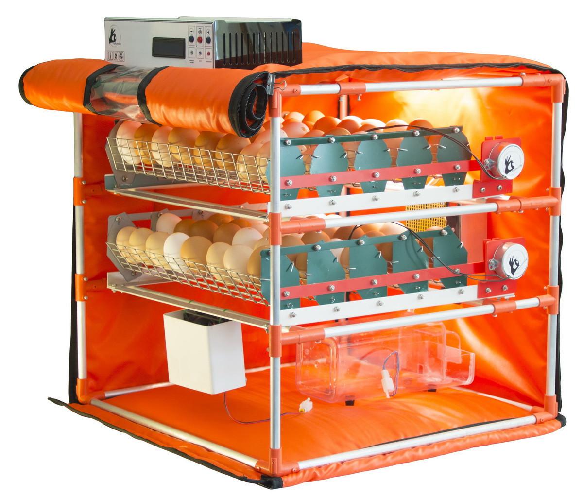 Автоматический инкубатор-конструктор (220V) на 56 яиц водоплавающих птиц, с увлажнителем, WI-FI