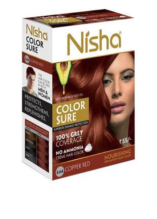 Безамиачная крем-краска для волос Nisha Коричневая №4 с маслом авокадо, фото 2