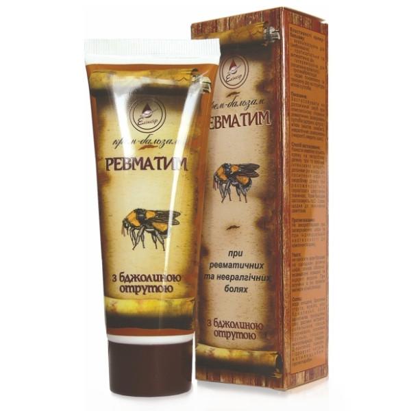 Крем – бальзам Ревматим с пчелиным ядом