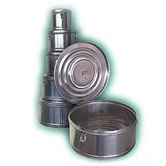 Коробка стерилизационная круглая с фильтром КСКФ-18 (объем - 18 дм3, диаметр – 390 мм)