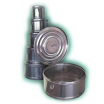 Коробка стерилизационная круглая с фильтром КСКФ-18 (объем - 18 дм3, диаметр – 390 мм), фото 2