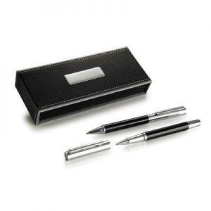 Ручка металлическая в футляре,чёрная