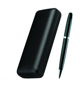 Ручка металлическая, черная, в футляре