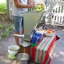 Шнековая соковыжималка СШ-1 220В, для яблок (до 200 кг/ч) и других фруктов не требующая периодической очистки, фото 3