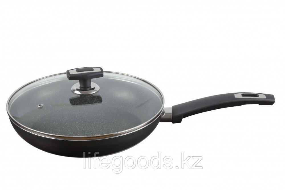 Сковорода 260 мм, 1 ручка, стеклянная крышка, ТМ Калитва 3872635