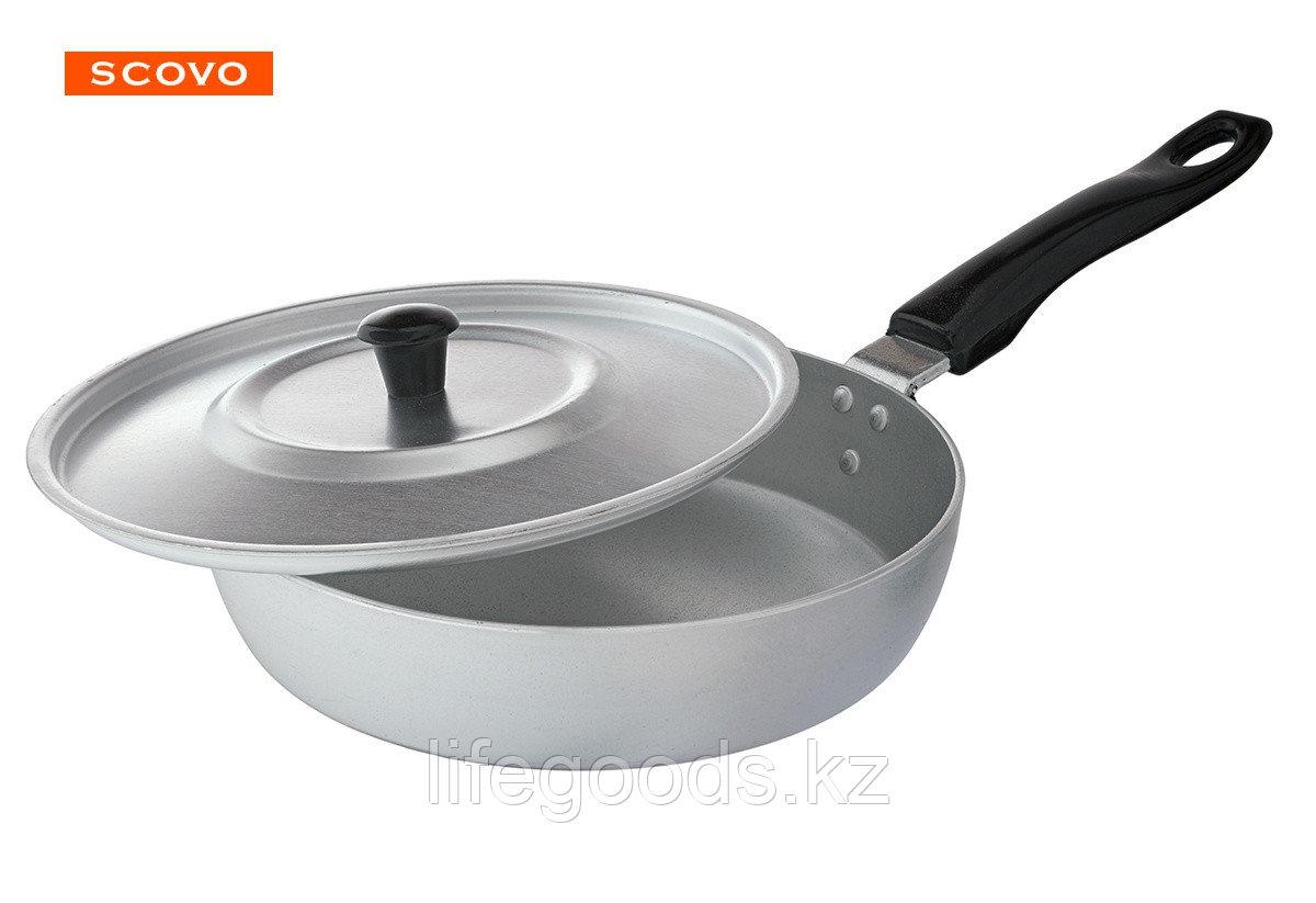 Сковорода алюминиевая,22 см, с крышкой МТ-027