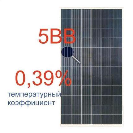 Солнечная батарея (панель) 330Вт, поликристаллическая RSM72-6-330P/5BB, Risen, фото 2
