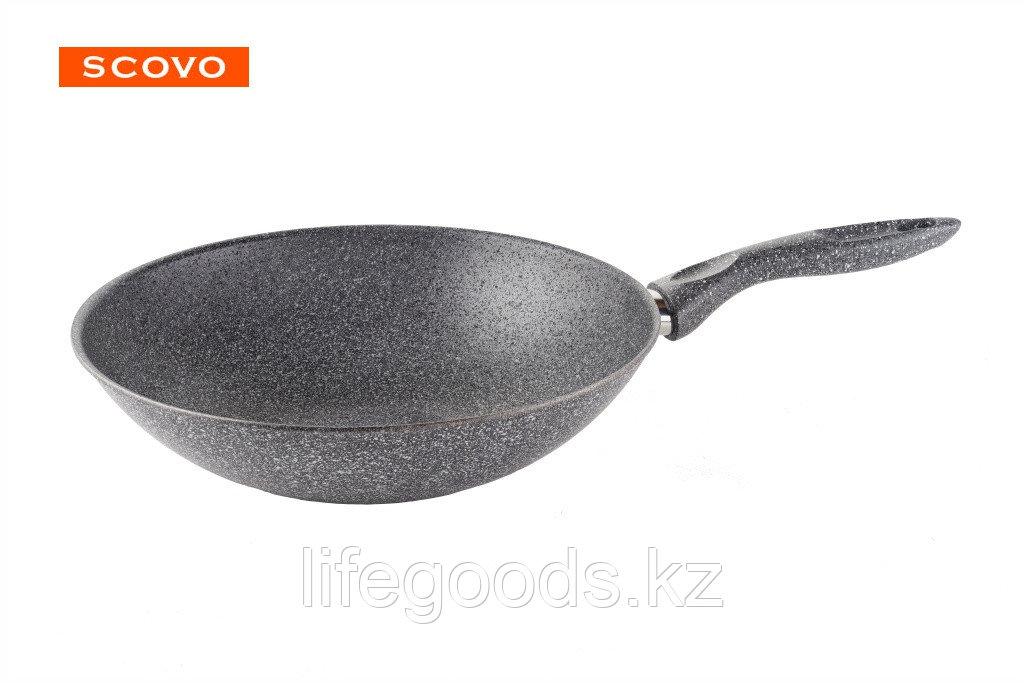 Сковорода-вок Scovo Stone Pan, 28 см, без крышки ST-056