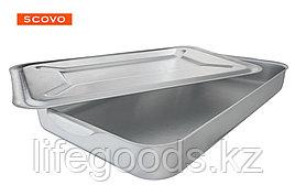 Поддон алюминиевый 54x34 см, с крышкой МШ-015
