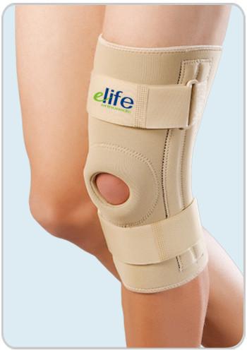 Бандаж на колено с отверстием и боковыми супинаторами