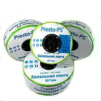 Капельная лента Presto-PS эмиттерная 3D Tube капельницы через 20 см  расход 2.7 л/ч, длина 500 м (3D-20-500), фото 3