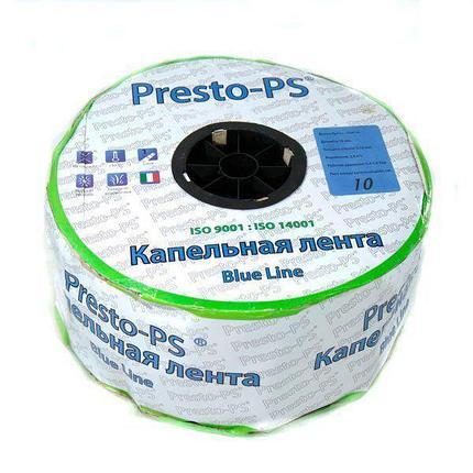 Капельная лента Presto-PS щелевая Blue Line отверстия через 10 см, расход воды 2,2 л/ч, длина 1000 м, фото 2