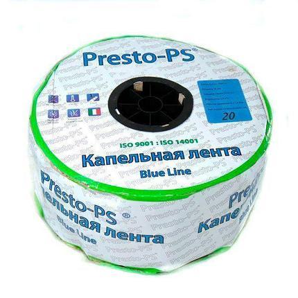 Капельная лента Presto-PS щелевая Blue Line отверстия через 20 см, расход воды 2,4 л/ч, длина 1000 м, фото 2