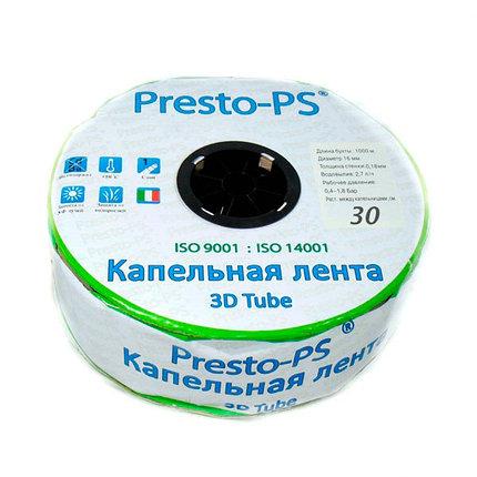 Капельная лента Presto-PS эмиттерная 3D Tube капельницы через 30 см, расход 2.7 л/ч, длина 1000 м (3D-30-1000), фото 2