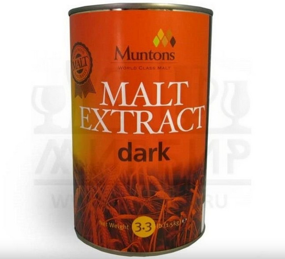 """Жидкий неохмеленный солодовый экстракт Muntons """"Dark Malt Ext"""", 1,5 кг"""