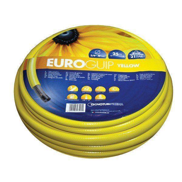 Шланг садовый Tecnotubi Euro Guip Yellow для полива диаметр 3/4 дюйма, длина 30 м (EGY 3/4 30)