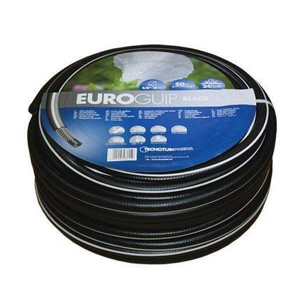 Шланг садовый Tecnotubi Euro Guip Black для полива диаметр 1 дюйм, длина 50 м (EGB 1 50), фото 2