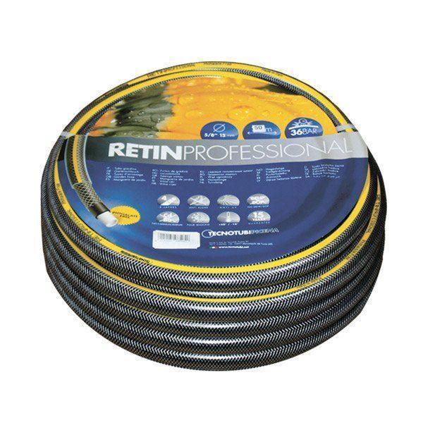Шланг садовый Tecnotubi Retin Professional для полива диаметр 5/8 дюйма, длина 25 м (RT 5/8 25)