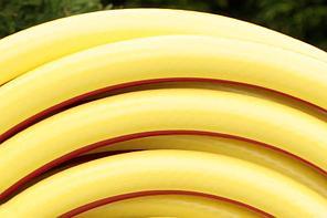 Шланг поливочный Evci Plastik Радуга (Salute) желтая диаметр 3/4 дюйма, длина 20 м (SN 3/4 20), фото 3