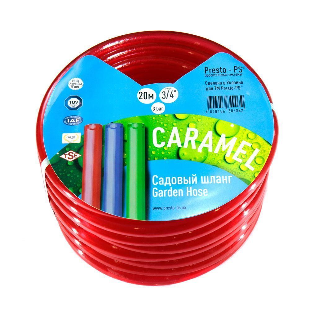 Шланг для полива Evci Plastik Софт Силикон (Caramel красный) садовый диаметр 3/4 дюйма, длина 50 м (SE-3/4 50)
