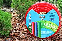 Шланг для полива Evci Plastik Софт Силикон (Caramel красный) садовый диаметр 3/4 дюйма, длина 50 м (SE-3/4 50), фото 2