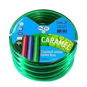 Шланг для полива Evci Plastik Софт Силикон (Caramel зеленый) садовый диаметр 3/4 дюйма, длина 20 м (CAR-3/4 20), фото 2