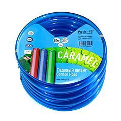Шланг для полива Evci Plastik Софт Силикон (Caramel синий) садовый диаметр 3/4 дюйма, длина 20 м (CAR B-3/4