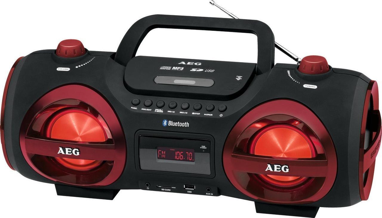Магнитола с CD/MP3/Bluetooth/USB AEG SR 4359 BT красная