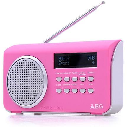 Радиоприемник AEG DAB 4130 розовый, фото 2