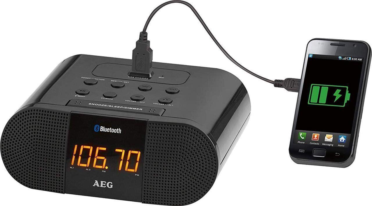 Радиочасы AEG MRC 4132 BT BLACK с возможностью подключения iPod