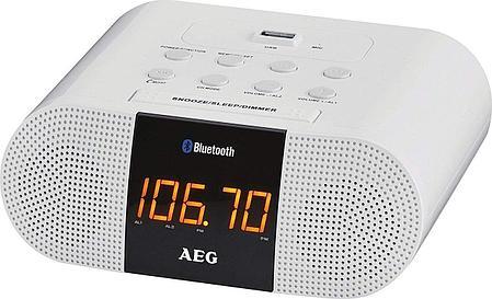 Радиочасы AEG MRC 4132 BT BLACK с возможностью подключения iPod, фото 2