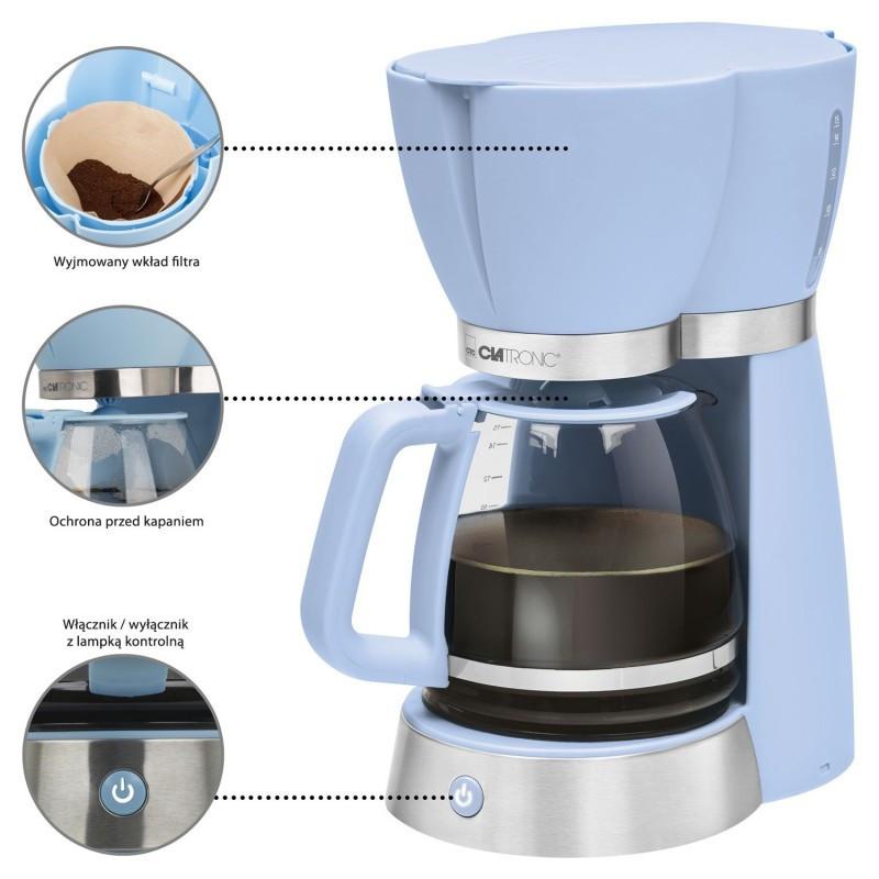 Капельная кофеварка CLATRONIC KA 3689 голубая