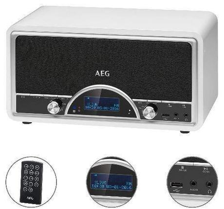 Радиоприемник AEG NDR 4378 белый, фото 2