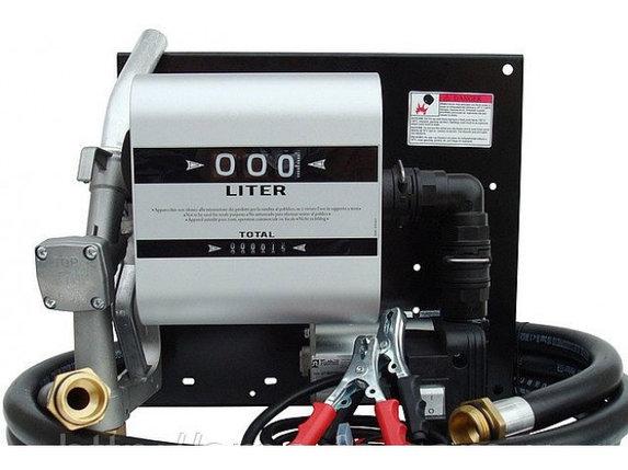 Мобильный заправочный узел для дизельного топлива с расходомером WALL TECH 85, 24В, 80 л/мин, фото 2