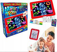 Планшет светодиодный MAGIC PAD с карточками для рисования