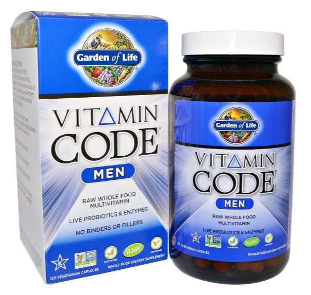 Garden of Life, Vitamin Code, для мужчин, 120 вегетарианских капсул
