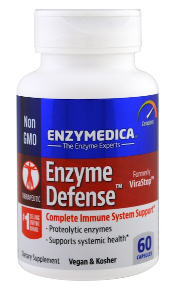 Enzymedica, Энзимная защита, 60 капсул