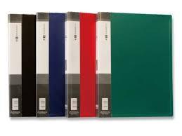 Папка с 10 файлами, красная, А4, пластик, 0.45мм